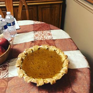 My pumpkin pecan burbon pie