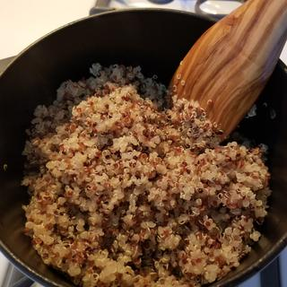 Heirloom quinoa cooked up perfectly in this petite oven.
