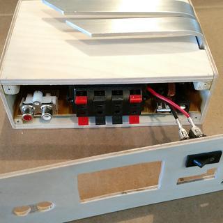 Lp 168s digital stereo power amplifier audio 2. 1 channel 2x 40w.