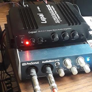 Amazon. Com: lepai lp-168ha 2. 1 2 x 40-watt amplifier and 1x68w sub.