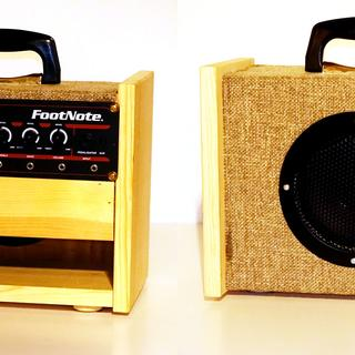Build your own footnote guitar combo amp components only front and back views solutioingenieria