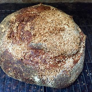 Sesame bread, Tartine's recipe.