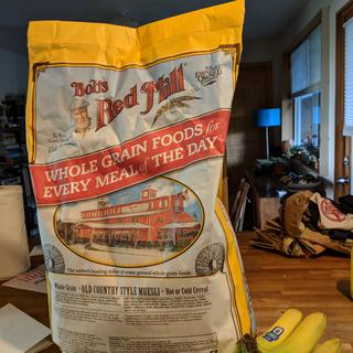 The bag is as big as the large dog food bags
