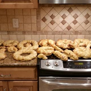Easter bread finished product.  Many people enjoyed this bread :)