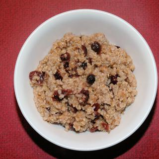 Bob's Redmill steel cut oats with his wheat brand and cranberries.