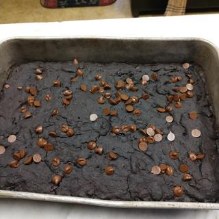 Gluten free double dark chocolate brownies