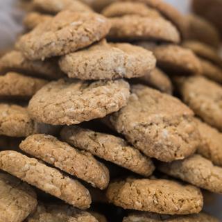 Oatmeal Cookies with GF oats & oat flour, BRM AP GF flour, flaxseed