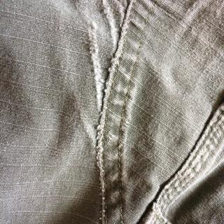 Crotch showing significant wear. I expect this to split any day.