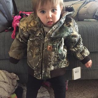 Raelynne in her cool new coat!