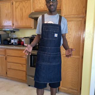 Me wearing apron