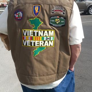 My First Vietnam Vet Vest Back