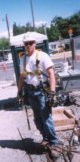 On the job site while working for CECO concrete construction in Seattle, WA. in relaxed fit Carhartt