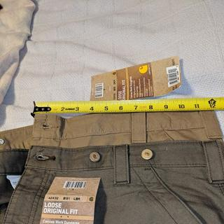 Belt loops and pockets misaligned making it impossible to install suspender buttons.