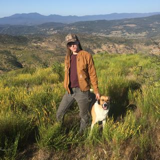 All Carhartt outfit with my dog on my ranch.