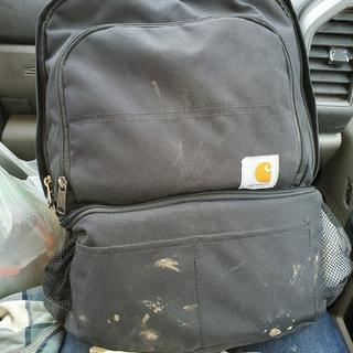 It's a lil dirty from work but cleans up easy love my backpack lunchbox