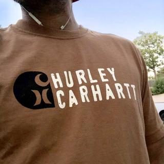 Love this collaboration tee! Fits like all my Carhartt shirts! Awesome stuff!