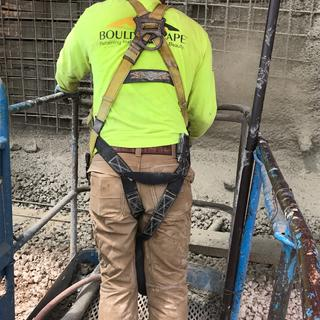 Pants so comfortable, almost forget you have a harness on.