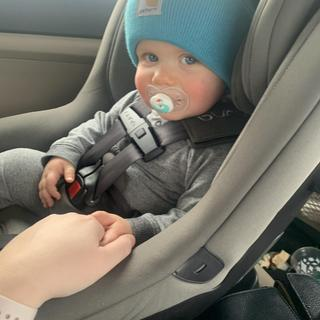 Our little guys loves his Carhartt hats! They stay on his head well, and keep him comfy and warm!