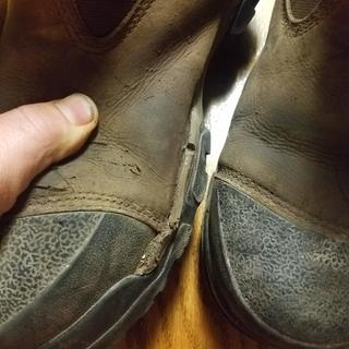 Rubber peeling away from boot