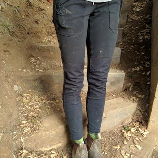 Utility leggings at the end of a muddy day
