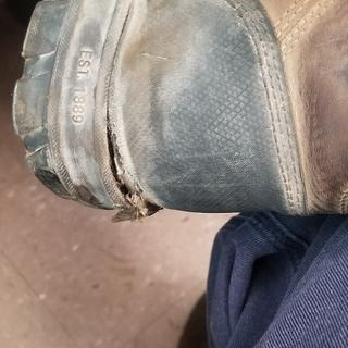 Torn rear sole