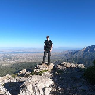 Wearing my newly purchased Carhartt Force Extreme Cargo Pants at South Sandia Peak (elev: 9782').