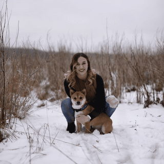 Took pictures with my dog in the cold of New England and was so warm