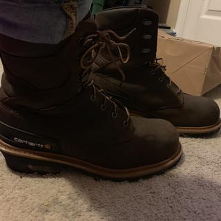 Carhartt name on the side above the heel so there's no question what brand boot your wearing.