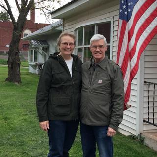 Thank you to Carhart for visiting Ironwood,MI & touring Jacquarts Fabric Products. Barb & Jim Wilman