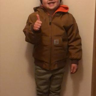 3 year old Brody is ready for Wisconsin's winter