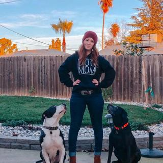 Dog Mom in my Layton Skinny Jean Carhartts