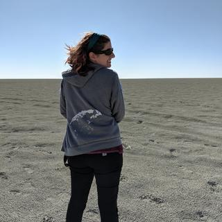On the Etosha Pan in Namibia.
