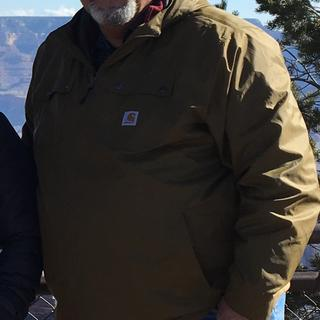 Me in my jacket at the Grand Canyon. Lightweight, yet warm in very cold, breezy conditions.