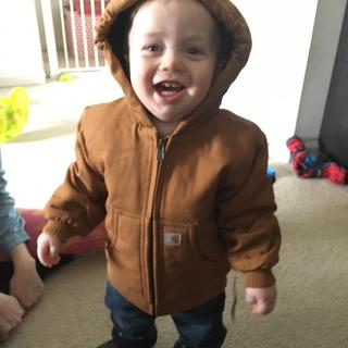 My one year old Grandson seems to enjoy his first Carhartt jacket!