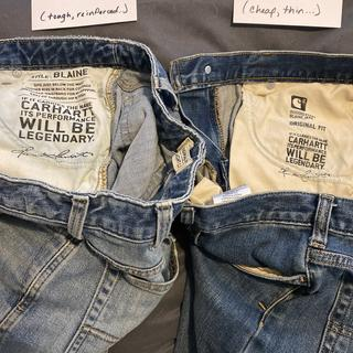Same style name, same size, NOT THE SAME JEANS.