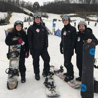 First time on the slopes, so warm and so dry!