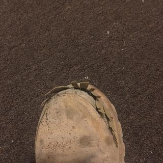 Left boot falling apart