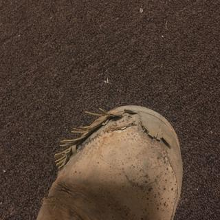 Right boot falling apart