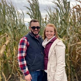 In the corn maze!