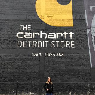 The 'Crawford Bomber Jacket' at The Carhartt Detroit Store