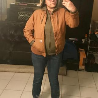 Olive with my Carhartt bomber