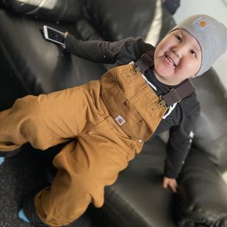 He loves his Carhartt Coveralls!