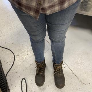 Layton Jeans hard at work making wine