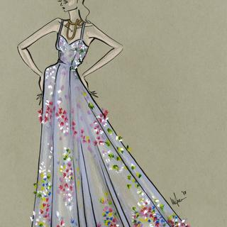 Illustration by Fashion Strokes using Tombow Irojiten Tranquil Coloring Set