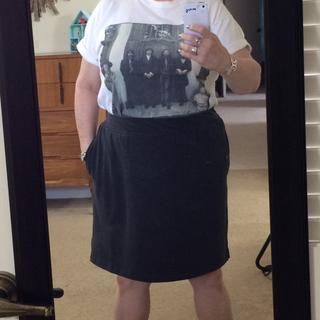 Paired it with this vintage Bealtes tee and pewter sandals. Cute and casual.
