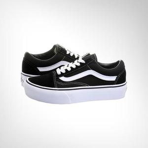 d4cfa335ee2a About  Women s Vans Old School Platform Black White Shoe